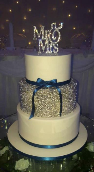Mr & Mrs Sparkle Wedding Cake WC109