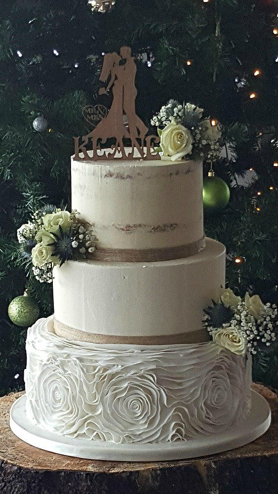 Rustic Elegance Wedding Cake WC104