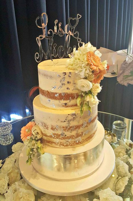 WC120-Fancy-Silver-Foil-Naked-Wedding-Cake