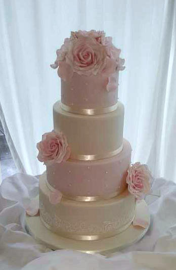 WC122-Delicate-Pink-Ivory-Wedding-Cake