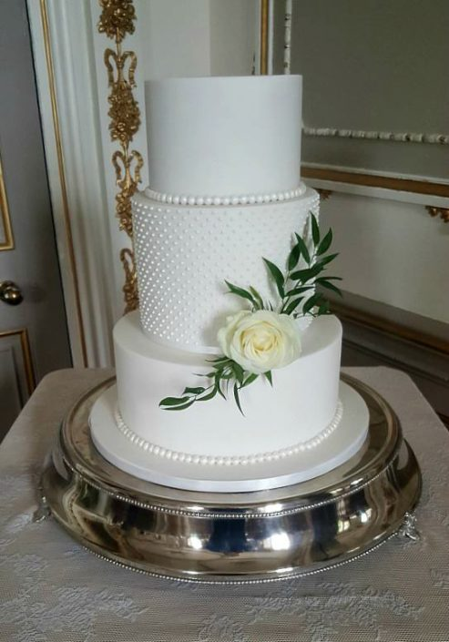 WC134 Elegant Rose Wedding Cake