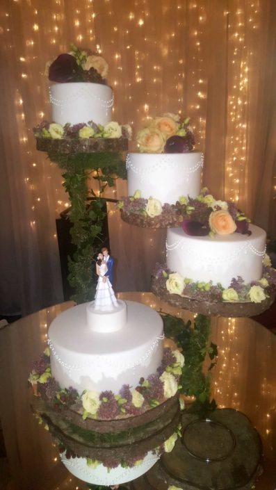 WC137 Four Tier Rustic Wedding Cake