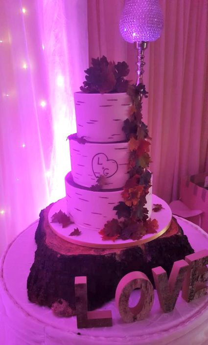 WC145 Rustic Love Wedding Cake