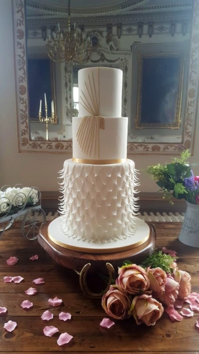 Art Deco Elegance Wedding Cake WC160