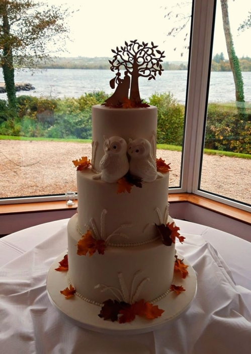 Autumn Owl Wedding Cake WC172