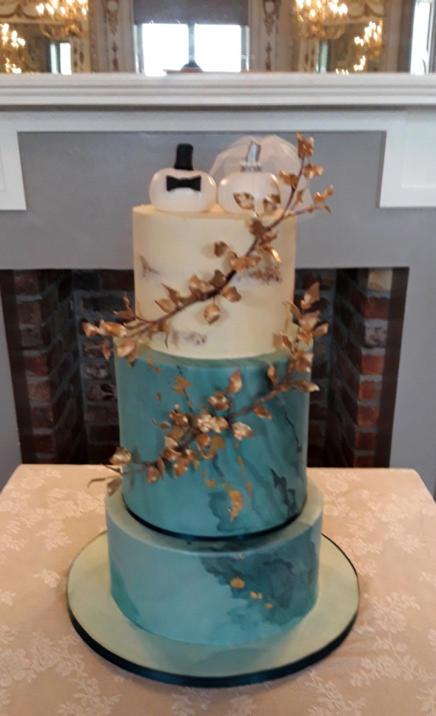 Autumnal Marbled Wedding Cake WC158