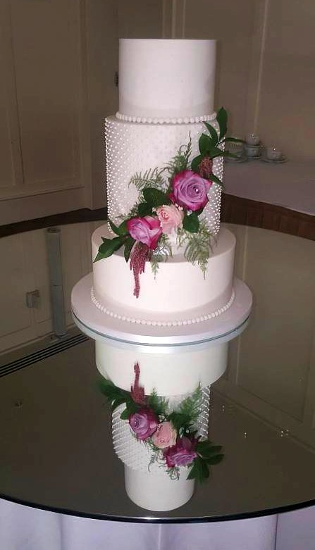 legant Flowers Wedding Cake WC164