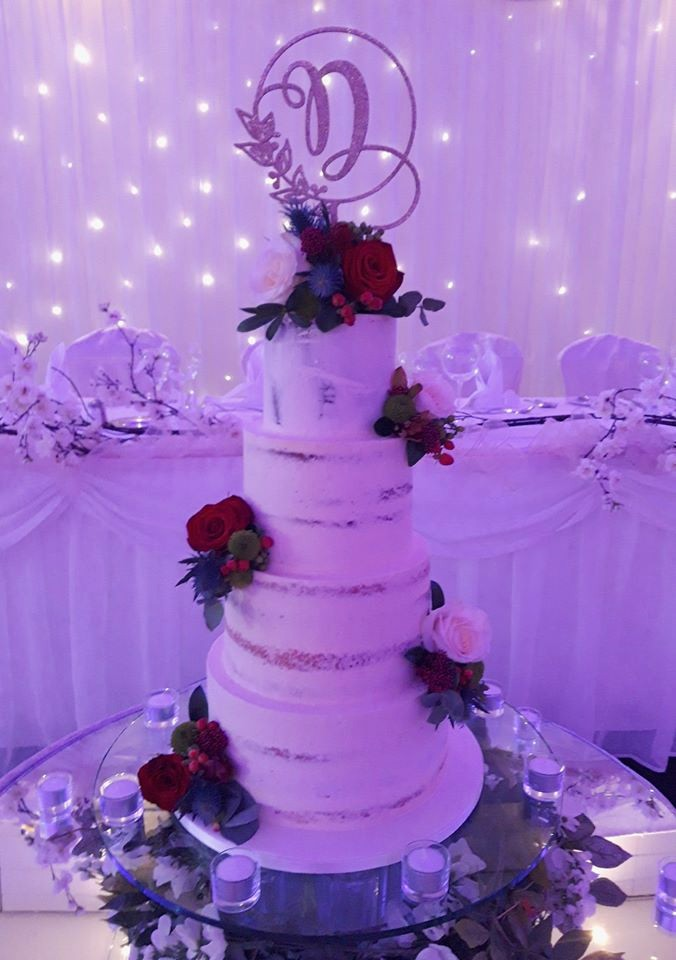 Elegant Rose Wedding Cake WC173