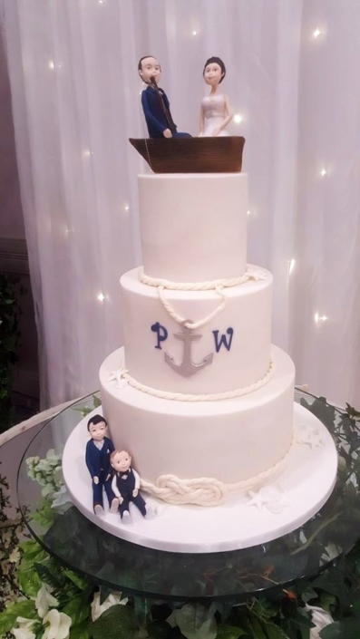 Fishing Couple Wedding Cake WC161