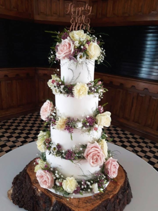 Happily Ever After Rustic Wedding Cake WC181