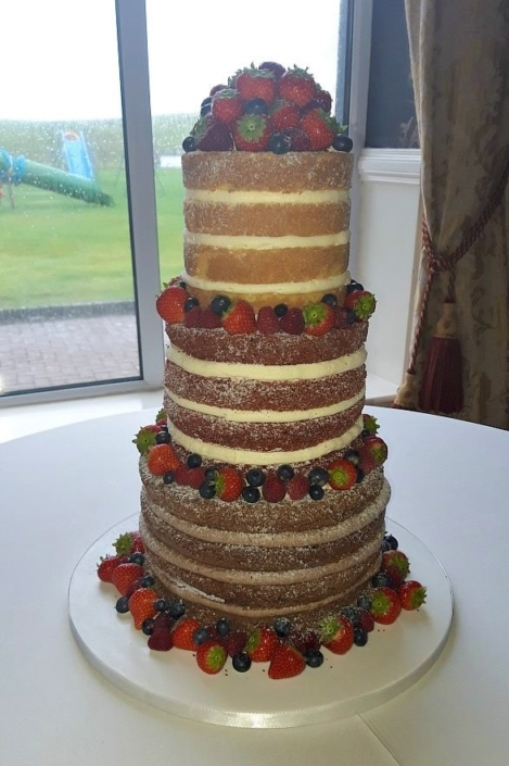 Naked Fruit Wedding Cake
