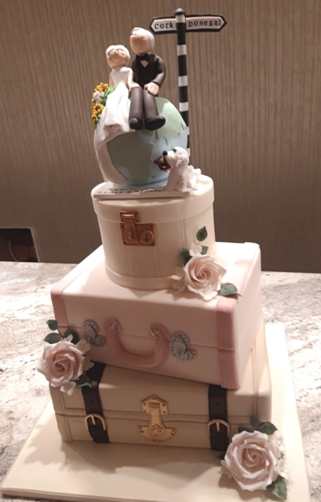 Travel Wedding Cake WC159