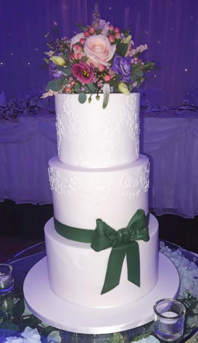 Gorgeous Bouquet Wedding Cake