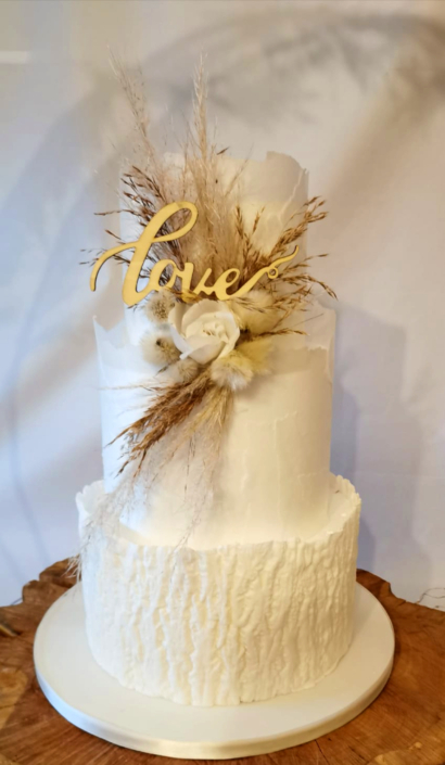 Rustic Love Wrapped Wedding Cake